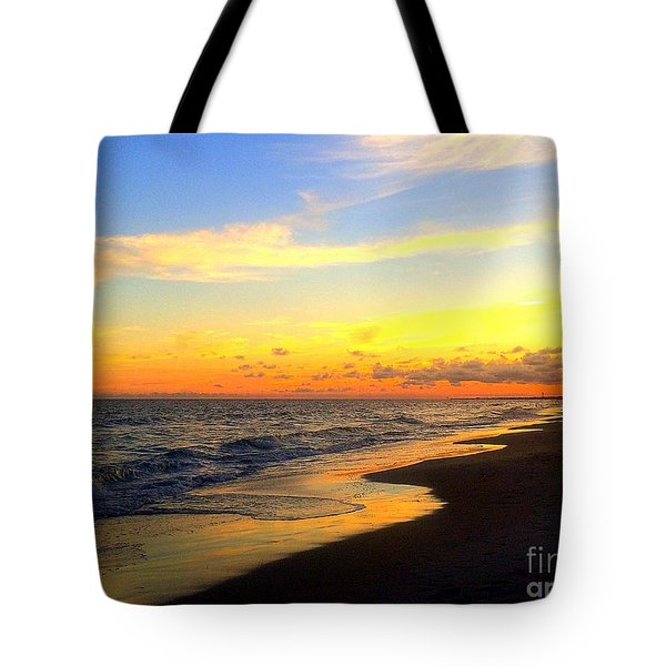 Orange Glow Sunset Tote Bag