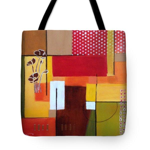 Orange Green, Abstract  Tote Bag