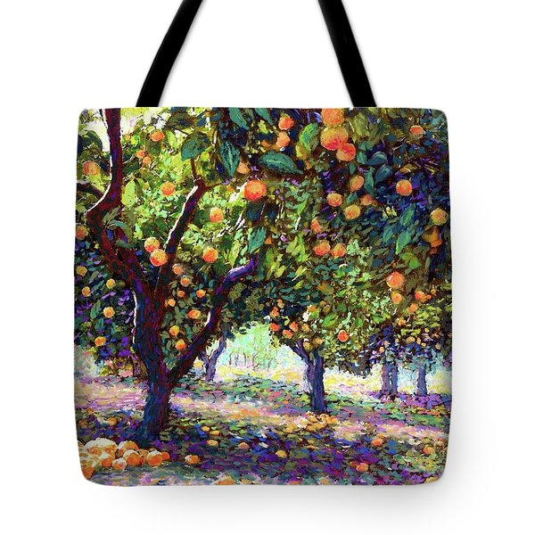 Orange Grove Of Citrus Fruit Trees Tote Bag