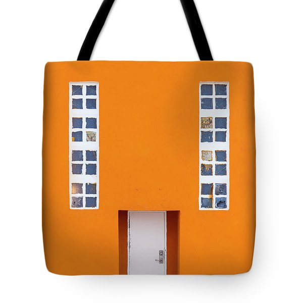 Orange Happy Tote Bag