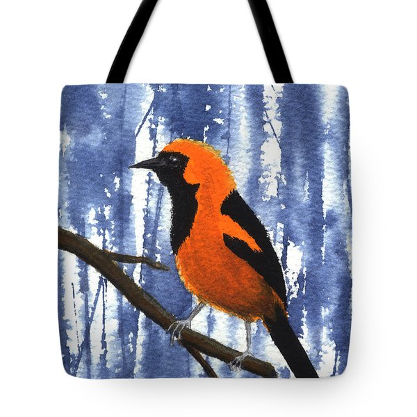 Orange-headed Oriole Tote Bag