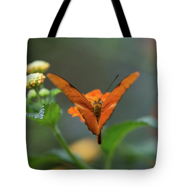 Tote Bag featuring the photograph Orange Is The New Butterfly by T A Davies