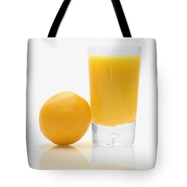 Orange Juice Tote Bag by Darren Greenwood