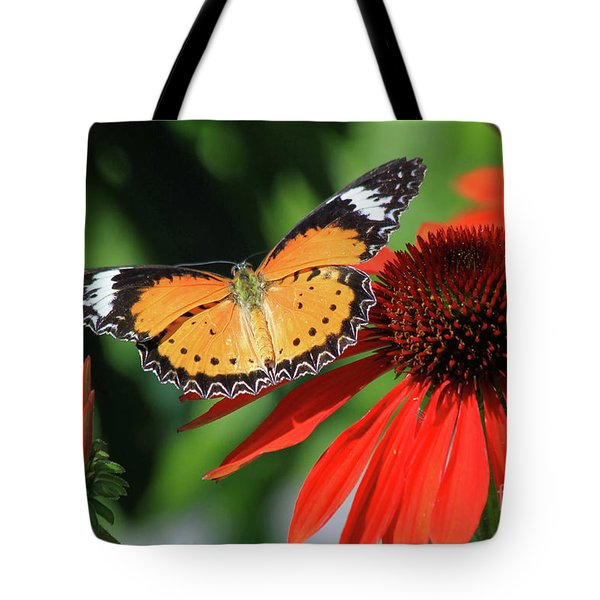 Orange Lacewing Tote Bag