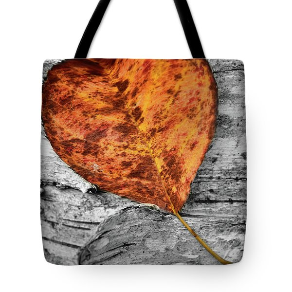 Orange Leaf Tote Bag