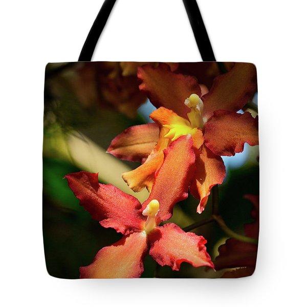 Tote Bag featuring the photograph Orange Leap by Richard Goldman