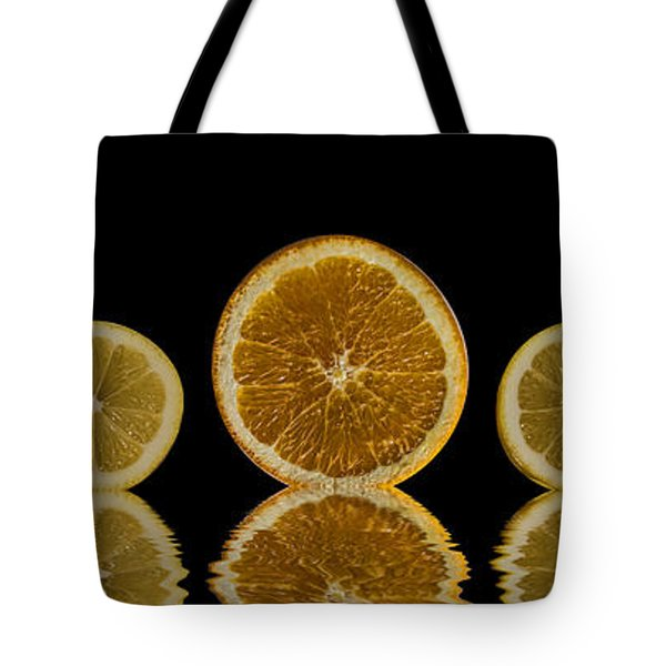 Orange Lemon Reflection Tote Bag