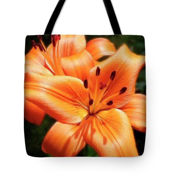 Orange Lily Joy Tote Bag