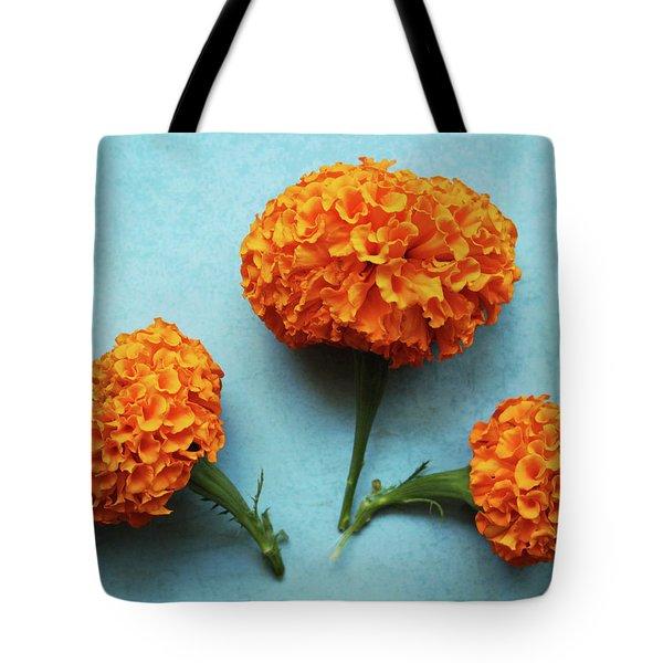 Orange Marigolds- By Linda Woods Tote Bag