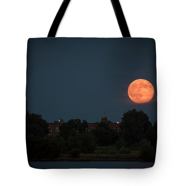 Orange Moon Tote Bag