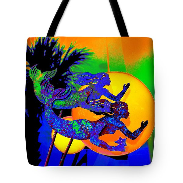 Orange Moon Synchronicity Tote Bag