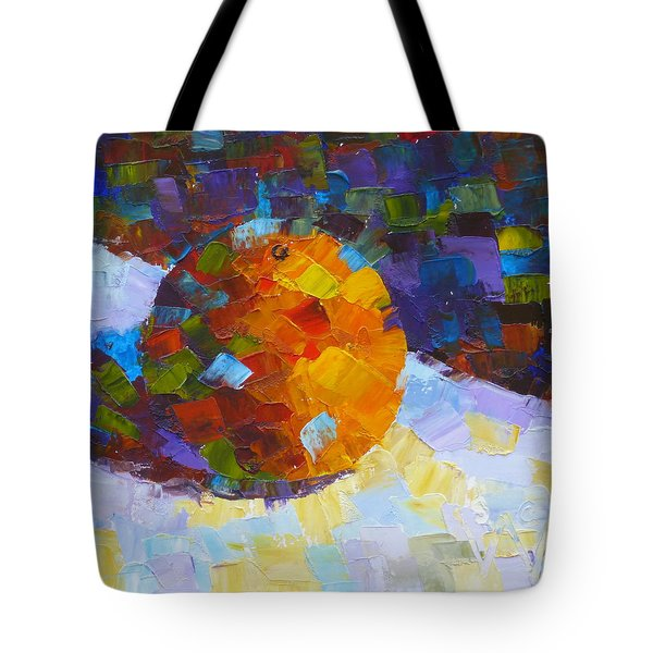 Orange Mosaic #3 Tote Bag