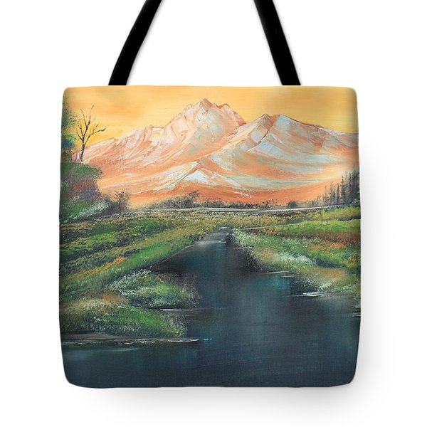Orange Mountain Tote Bag by Remegio Onia