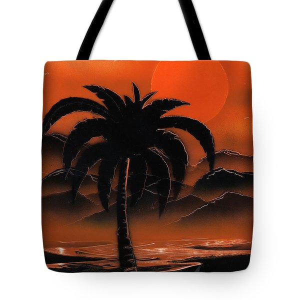 Orange Oasis Tote Bag