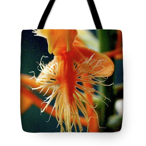 Fringed Orange Orchid Tote Bag by Meta Gatschenberger