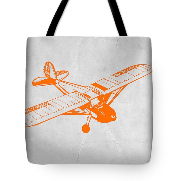 Orange Plane 2 Tote Bag by Naxart Studio