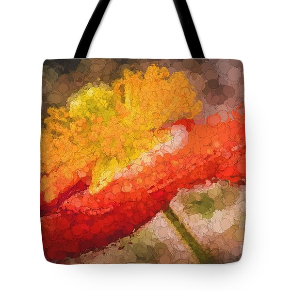 Tote Bag featuring the photograph Orange Poppy by Cathy Donohoue