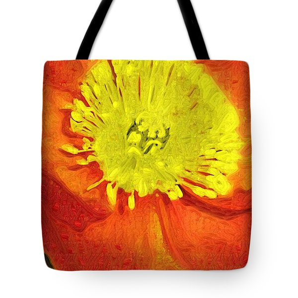 Tote Bag featuring the photograph Orange Poppy by Donna Bentley
