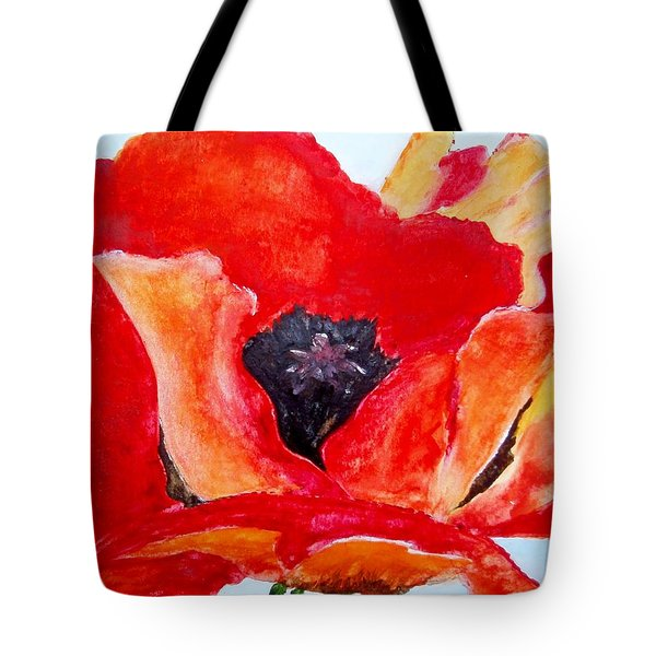 Orange Poppy Tote Bag by Jamie Frier