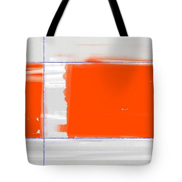 Orange Rectangle Tote Bag