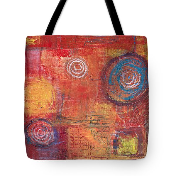 Orange Red Abstract Tote Bag