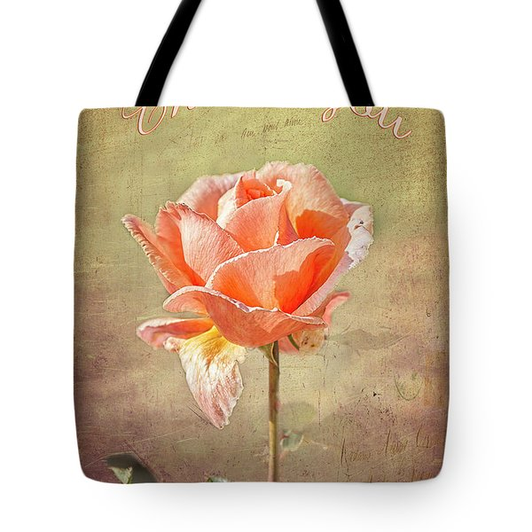 Tote Bag featuring the photograph Orange Rose by Elaine Teague