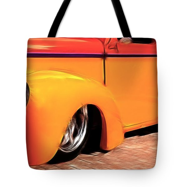 Orange Rush - 1941 Willy's Coupe Tote Bag