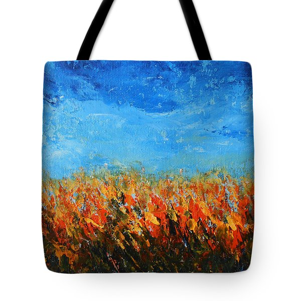 Tote Bag featuring the painting Orange Sensation by Jane See