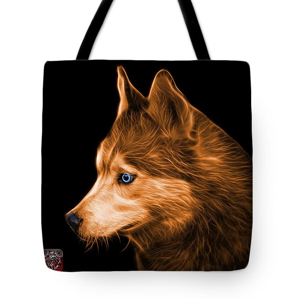 Tote Bag featuring the painting Orange Siberian Husky Art - 6048 - Bb by James Ahn