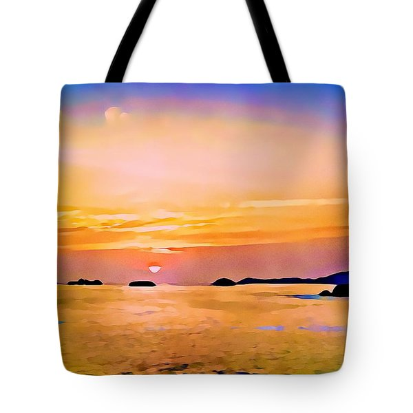 Orange Sky In Ixtapa, Mexico Tote Bag