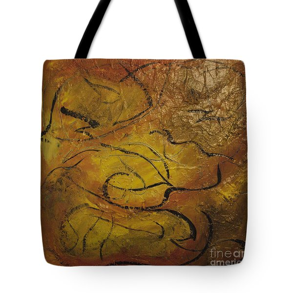 Orange Souffle Tote Bag