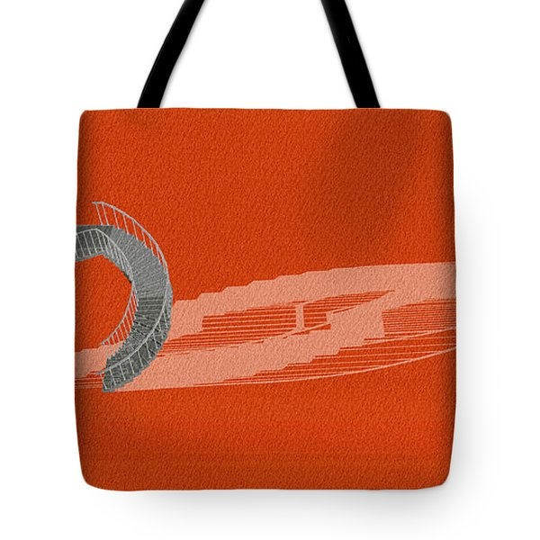 Orange Stair 46 And It Negative Shadow Tote Bag