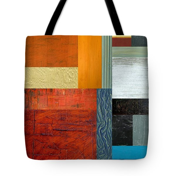 Tote Bag featuring the painting Orange Study With Compliments 1.0 by Michelle Calkins