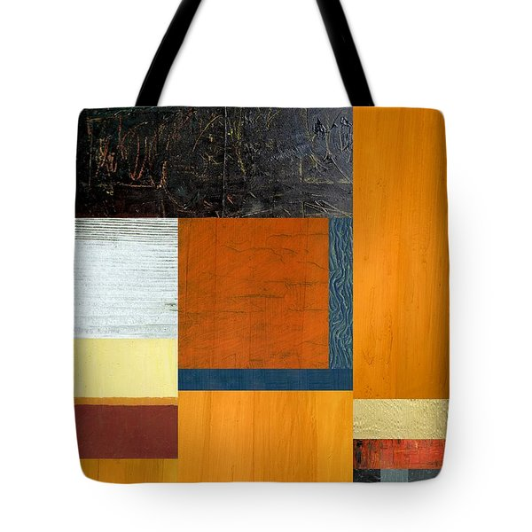 Tote Bag featuring the painting Orange Study With Compliments 2.0 by Michelle Calkins