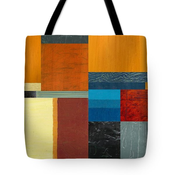 Tote Bag featuring the painting Orange Study With Compliments 3.0 by Michelle Calkins