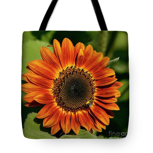 Orange Sunflower Tote Bag