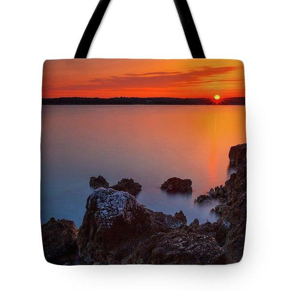 Orange Sunrise Tote Bag