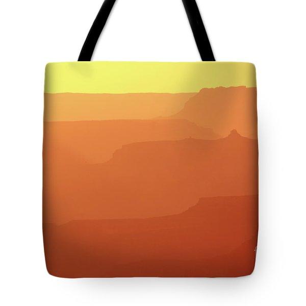 Orange Sunset At Grand Canyon Tote Bag by RicardMN Photography