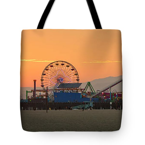 Orange Sunset - Panorama Tote Bag