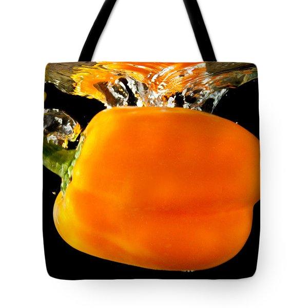 Orange Sweet Pepper Water Plunge Tote Bag