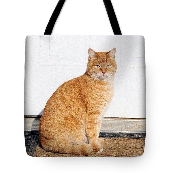 Orange Tabby Cat Tote Bag