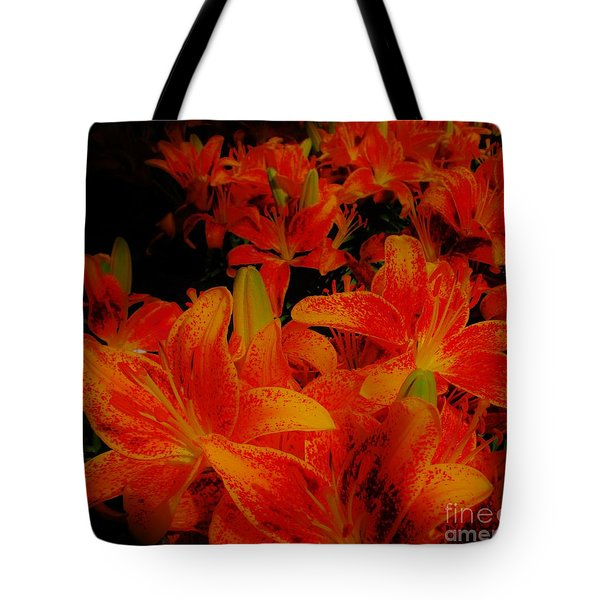 Spicey Tiger Lilies Tote Bag