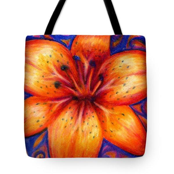 Orange Tiger Lily Drawing Tote Bag