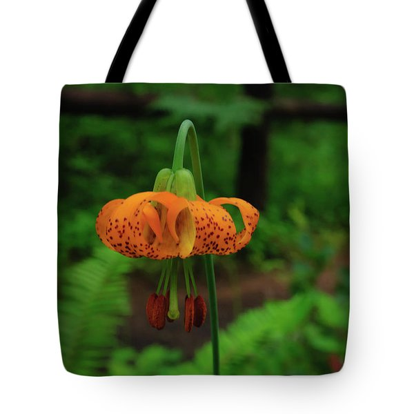 Tote Bag featuring the photograph Orange Tiger Lily by Tikvah's Hope