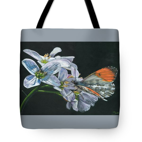 Orange Tip  Tote Bag