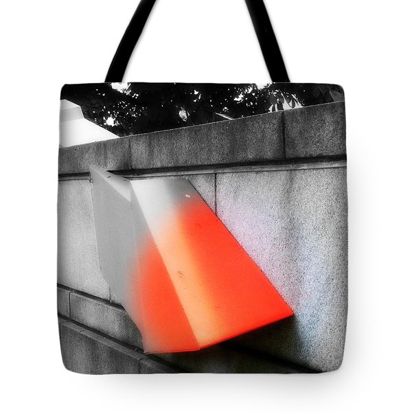 Orange Tipped Arrow Tote Bag