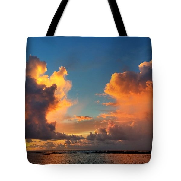 Orange To The Left And To The Right Tote Bag
