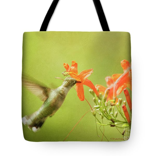 Tote Bag featuring the photograph Orange Treat by Charles McKelroy