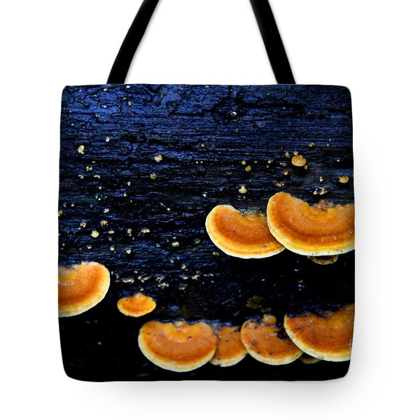 Orange Tree Fungus Tote Bag