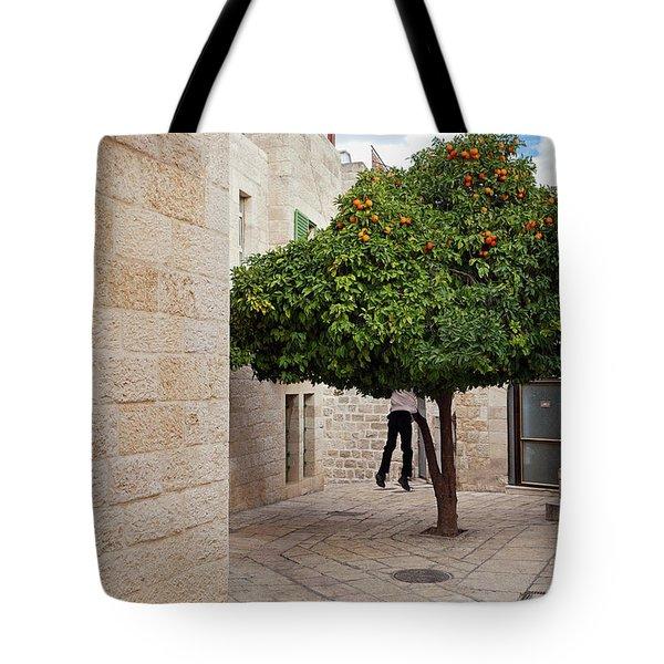 Orange Tree Tote Bag by Marji Lang